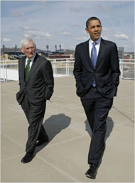 Dan Rooney and President Obama