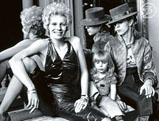 David Bowie with first wife and son