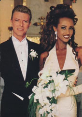 David Bowie and second wife, Iman