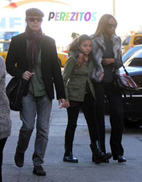 David Bowie with second wife and their daughter