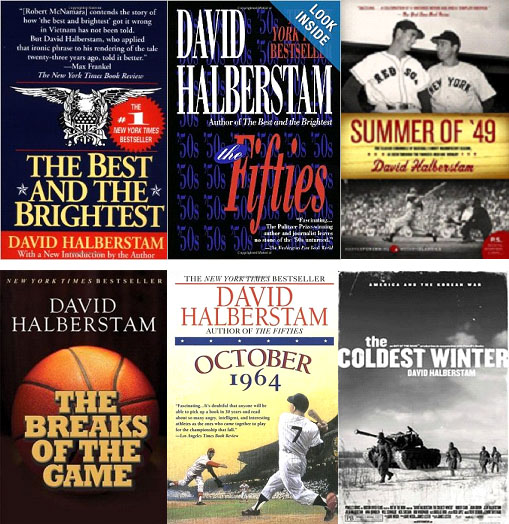 David Halberstam book covers