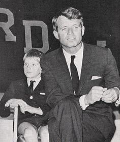 David Kennedy with his father