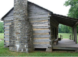 Davy Crockett birthplace replica cabin