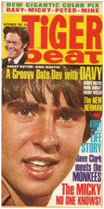 Davy Jones on the cover of Tiger Beat