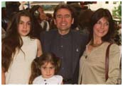 Davy Jones with his daughters from his second wife