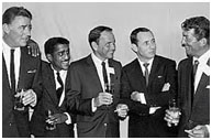 Dean Martin with the Rat Pack