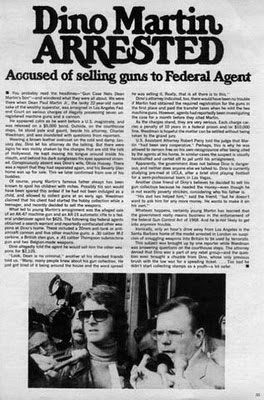 newspaper report of Dean Paul Martin arrest