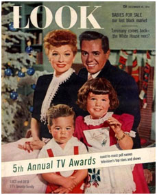 Arnaz family on the cover of Look Magazine