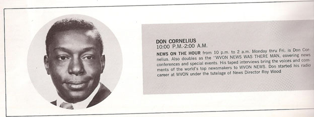Don Cornelius working at WVON