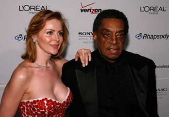Don Cornelius and his wife, Victoria