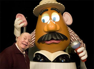 Don Rickles with Mr. Potato Head