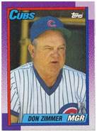 Don Zimmer managing the Cubs
