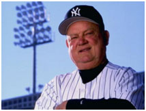 Don Zimmer as a coach on the Yankees