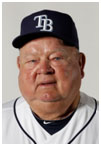 Don Zimmer with the Tampa Bay Rays