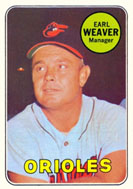 Earl Weaver as manager of the Orioles