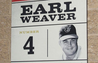 Earl Weaver retired number 4