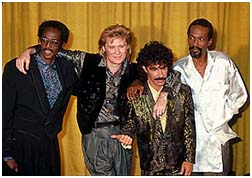 Eddie and Ruffin with Hall & Oates in 1985