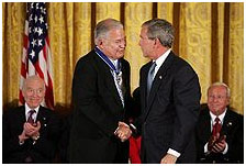 Edward Brooke and George W. Bush
