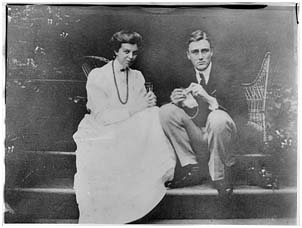 Eleanor Roosevelt with FDR in the early days of their relationship