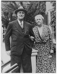 FDR with his mother