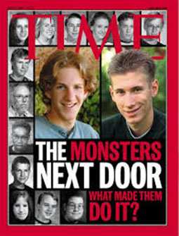Columbine killers and victims on cover of TIME Magazine