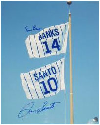 Ernie Banks flag at Wrigley Field