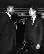 Ernie Davis with JFK
