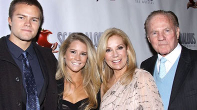 Frank Gifford with Kathie Lee Gifford and their two children