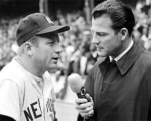 Frank Gifford interviewing Mickey Mantle