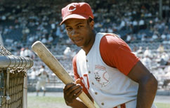 Frank Robinson with the Reds
