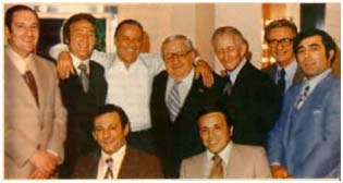 Frank Sinatra with members of the Gambino Crime Family