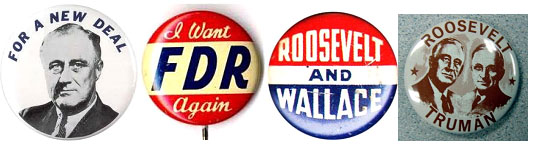 FDR capaign pins