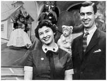 Fred Rogers with Josie Carey