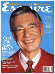 Fred Rogers on the cover of Esquire magazine