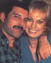 Freddie Mercury and Barbara Valentin