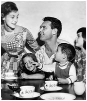 George Moscone with his wife and kids