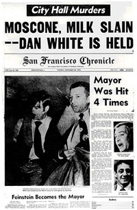 newspaper report of Milk and Moscone shooting