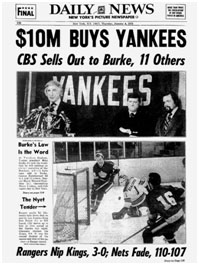 newspaper report of George Steinbrenner's purchase of the yankees