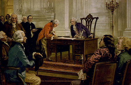 George Washington at the signing of the U.S Constitution