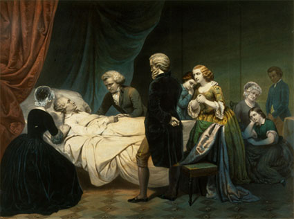 George Washington on his death bed