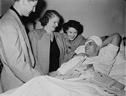 Gordie Howe head injury, 1950