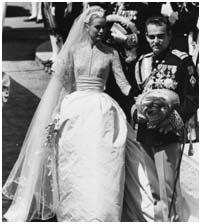 Grace Kelly marrying Prince Rainier