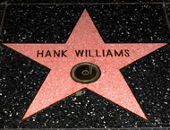 Hank Williams star on Hollywood Blvd