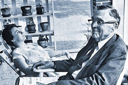 Harper Lee with her father