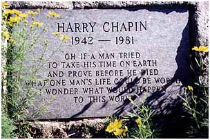 Harry Chapin buried at Huntington Grove Cemetery