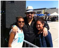 Heavy D with Antonia Lofaso and his daughter