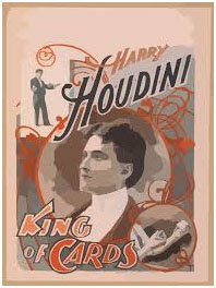 Henry Houdini's king of Cards promotion