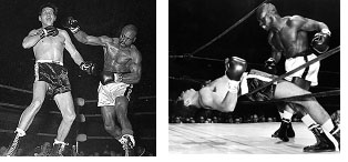 Hurricane Carter boxing in the early 1960's