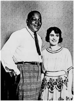 Jack Johnson with Lucille Cameron