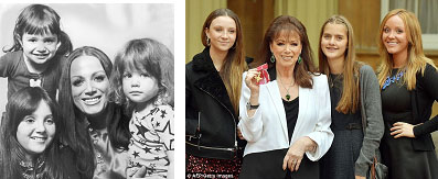 Jackie Collins with her kids
